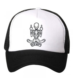 bad Skull art printed cap